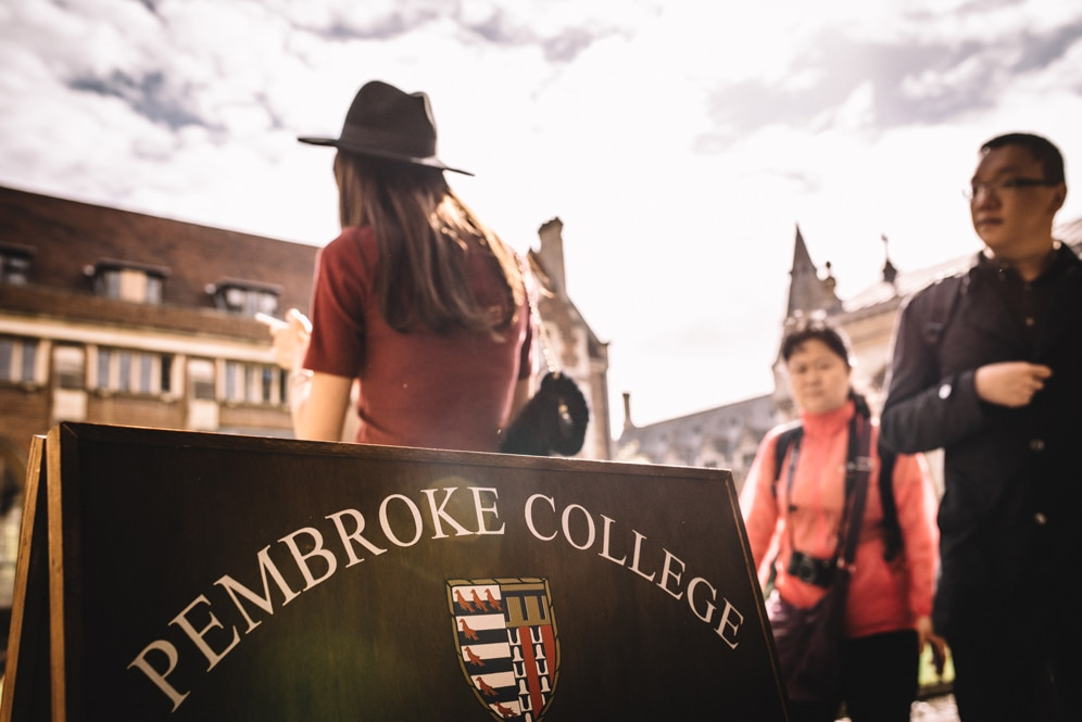 Pembroke College sign entrance