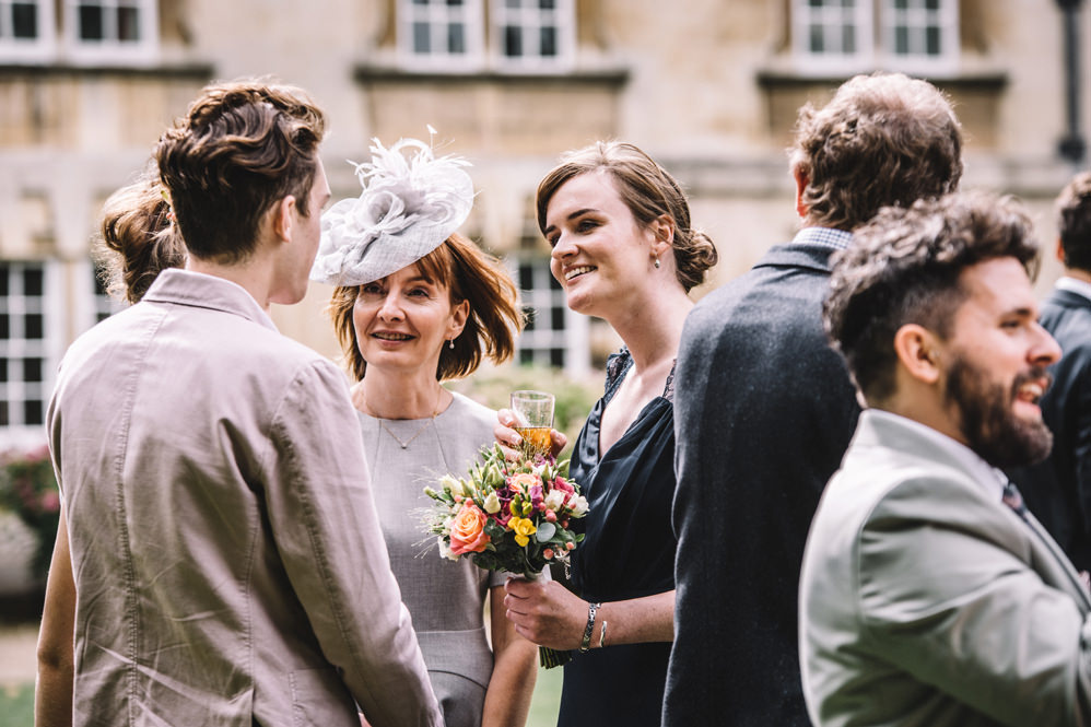 wedding guests at christ's college cambridge